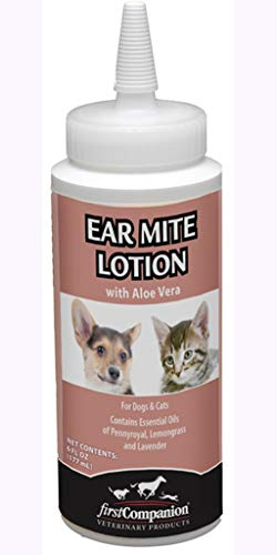 Coopers Best Ear Mite Medicine Lotion Aloe Dog Cat Rabbit 6oz All Natural Insecticide Free