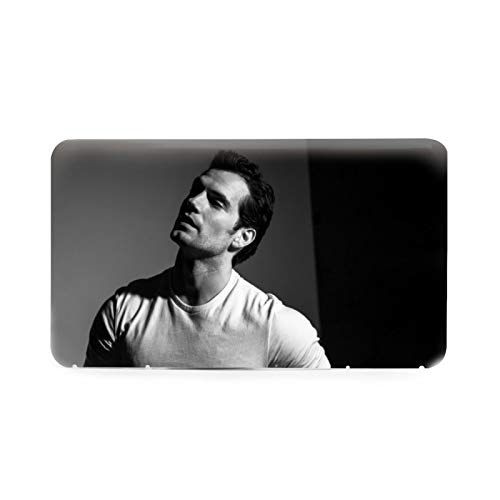 Henry_Cavill Face Mask Holder Case - 1 Pack Portable Mask Storage Box, Case Organizer Plastic Storage Box for Disposable/Cloth Face Coverings - Portable Organizer Keep Masks Clean - Slim Design