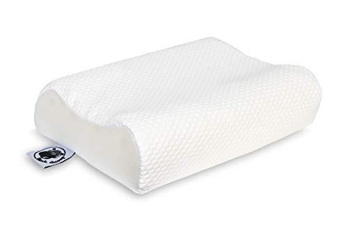 Black Sheeep Kopfkissen Comfort 50 x 35 cm I Orthopädisches ergonomisches Kissen für Seitenschläfer Bauchschläfer I Gesundheitskissen Nacken I Schlafkissen mit Kissenbezug
