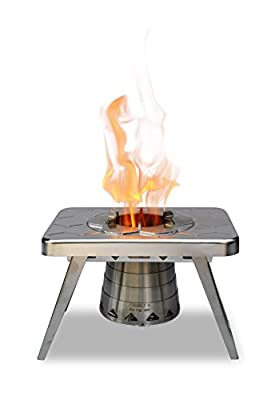 nCamp Wood Burning Camping Stove, Portable and Compact Made for Backpacking Camp Hiking Outdoor Cooking Tailgating RV