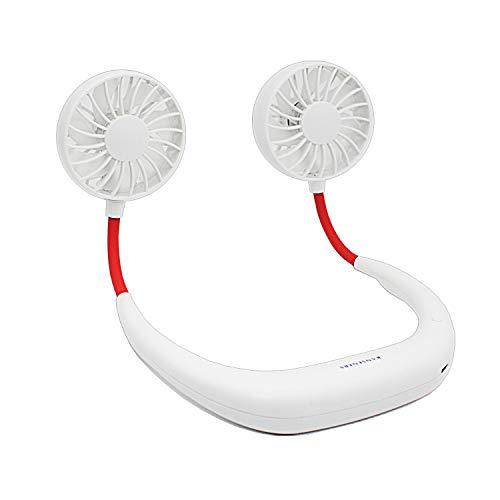 RANSENERS Ventilator, USB Mini Hals Ventilator, um die Hände frei zu halten, Frei die Richtung anzupassen, Geeignet zum Joggen, Radfahren, Outdoor, Arbeiten, Reisen