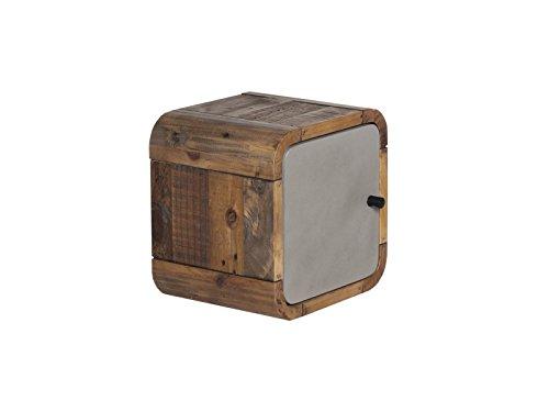 Woodkings® Badregal Dingle 30x30 Holz Pinie Natur rustikal und MDF in Betonoptik grau Badregal Regal Würfel Badmöbel Badezimmermöbel