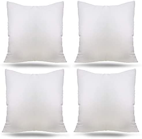 Ogrmar 4 Packs 18 x18 Premium White Throw Pillow Insert Hypoallergenic High Resilient PP Cotton product image
