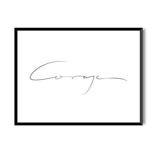 MILUKA Láminas para enmarcar colección Mensajes   Coraje   Tamaño 20x30cm, 30x40cm, 50x70cm (30 x 40 cm)