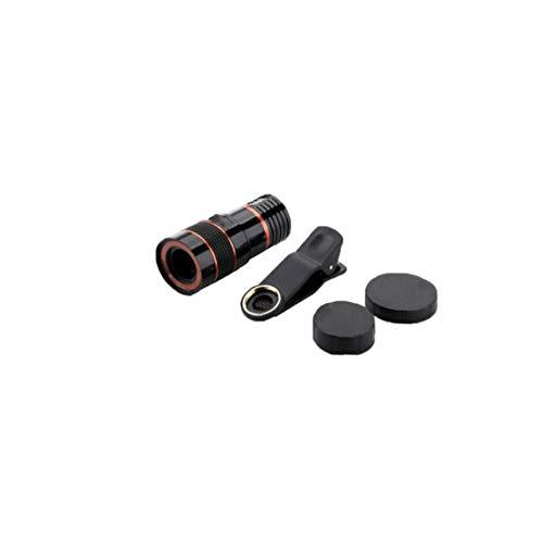 Naicasy Óptico de la Lente de la cámara cámara del telescopio de la Lente HD Telescopio 8X para el teléfono móvil con Universal Clip Conveniente para el iPhone Samsung LG Sony ASUS iPad Negro