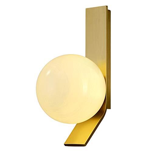G9 Italiano Minimalista Todo El Cobre Bola Lámpara De Pared,Nórdico Ligero Lujo Postmodernista Simple Muro De Fondo De La Sala De Estar Lámparas De Dormitorio-Cobre 1