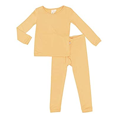 KYTE BABY Toddler Pajama Set - Pjs for Toddlers Made of Soft Bamboo Rayon Material (Petal, 5T)