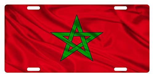 MNUT Marokko Vlag Custom License Plaat kenteken 6x12 inches
