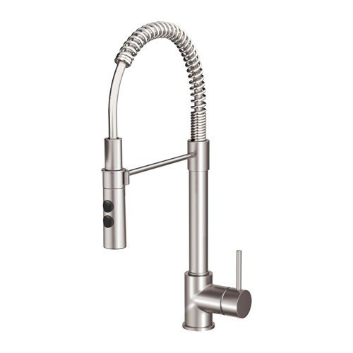 Ikea VIMMERN - Grifo mezclador con ducha (acero)