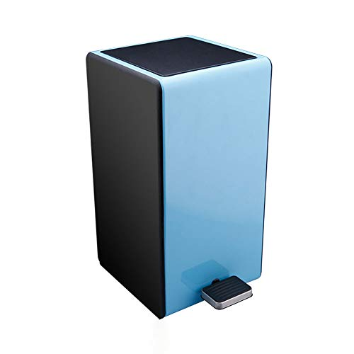 JMM Trash can semi-Automatic Change Bag Pedal Stainless Steel Trash Home Bedroom Living Room Bathroom