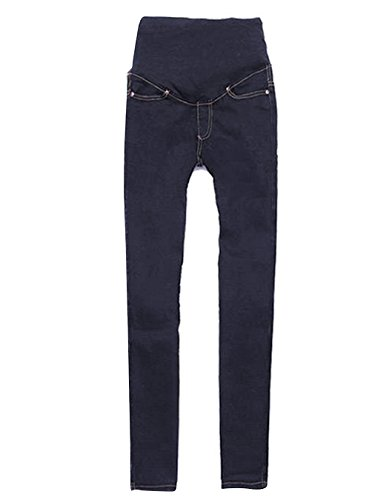 Asatr Maternity Slim Fit Stretch Skinny Denim Jeans Pregnant Long Pencil Pants