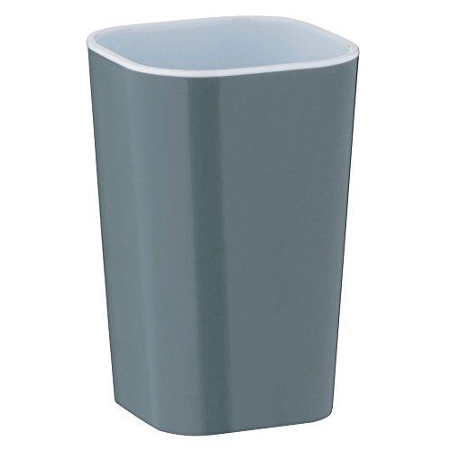 kela Becher Nora aus Kunststoff in grau/weiß, Plastik, 7.5 x 7.5 x 12 cm