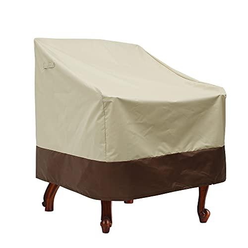 Keyohome Funda para silla Adirondack impermeable para sillón de jardín, funda protectora para sillas de exterior (85 x 80 x 91,5 cm)