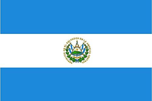 Gran Bandera de Salvador 150 x 90 cm Satén Durobol Flag