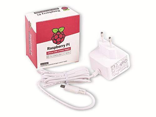 RASPBERRY Fuente DE ALIMENTACION USB-C 5.1V 3A - Blanco - para RASPBERRY PI 4 (1873421)
