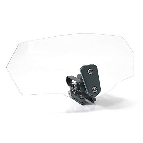 LBWNB Deflector de viento para parabrisas de motocicleta, motocicleta, para BMW F800R 2009-2018 (color: titanio)