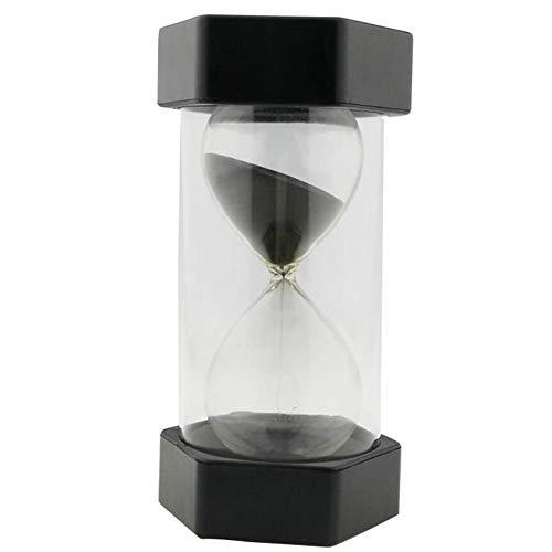 EQLEF Reloj de Arena, 30 Minutos Reloj de Arena Temporizador para Niños Aula Cocina Hogar Oficina y Juego (Negro, 30 Minutos)