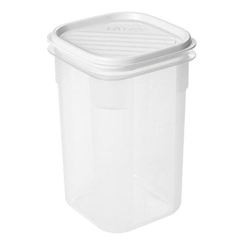 Tatay Fiambrera de Alimentos, Hermética, 1L de Capacidad, Tapa Flexible a Presión, Libre de BPA, Apto Microondas y Lavavajillas, Color Blanco. Medidas: 10 x 10 x 16.5 cm
