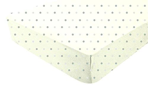 PMP hoeslaken ecru bedrukt gestippeld choco/taupe 60 x 120 cm