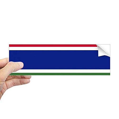 DIYthinker De Gambia Nationale Vlag Afrika Land Rechthoek Bumper Sticker Notebook Window Decal