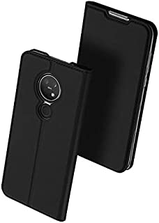 Mobile Phone Case Flip Cover Card All-Inclusive Anti-Fall Case For Nokia 7.2 - Black