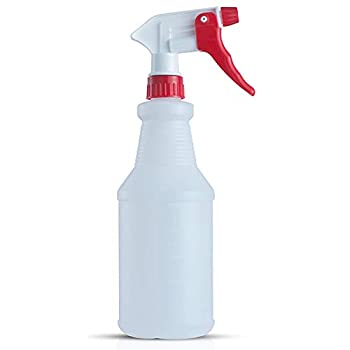 SIMATE Plastic Spray Bottles 24 Oz 700ml Empty Heavy Duty Spraying Bottle Mist Water Bottle for Cleaning Solutions Planting Gardening Sprayer with Adjustable Nozzle  1color