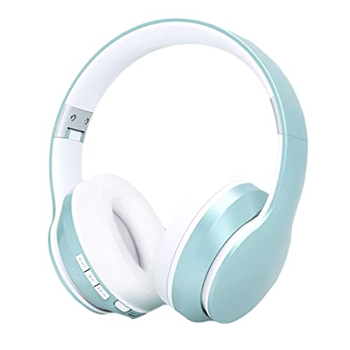 Pkfinrd Auriculares de Juego Auriculares de cancelación de Ruido Activo Auriculares Estéreo Estéreo Auriculares Bluetooth 5.0 35H Tiempo de Juego Auriculares de micrófono incorporados (Color : Blue)