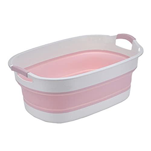 catch-L Bañera De Baño para Mascotas Bañera para Gatos para Perros Pequeños Cubo De Baño Cubo De Baño Bañera De Baño Plegable Bañera Portátil Azul/Rosa/Gris(Size:60x40CM,Color:Rosa)