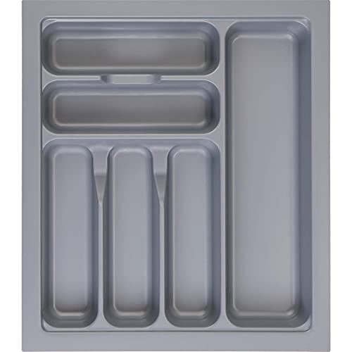 MUHOO Bandejas para Cubertería, 6 Compartimentos Organizador de Cocina, Caja de Cubiertos Plástico para el cajón, Inserto para Cajón 367 x 474 mm