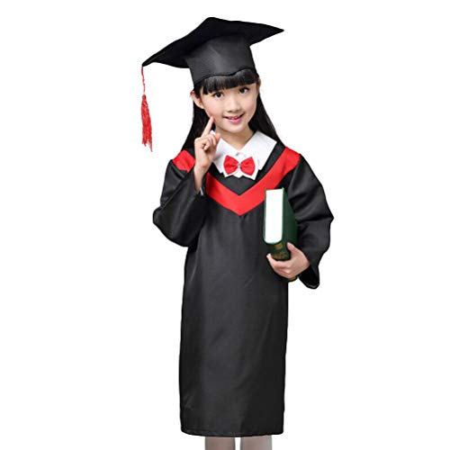 Amosfun Kinder Abschluss-Kleid-Umhang-Robe-Kappe Cosplay-Kostüme für Kinder