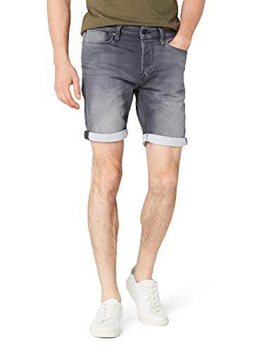 JACK & JONES Herren JJIRICK JJICON GE 443 I.K. STS Shorts, Grau (Grey Denim Grey Denim), 50 (Herstellergröße: M)