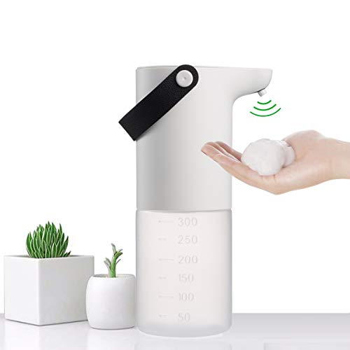 Automatic Soap Dispenser,Touchless,Desktop, Wall Hanging,IPX4 Waterproof, Battery Operated Electric Foaming Soap Dispenser,with Infrared Motion Sensor,for Kitchen,Bathroom,Office,Hotel,Restaurant.