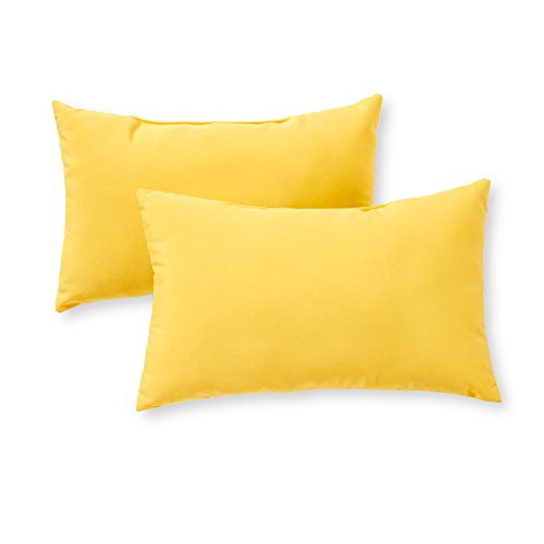 Greendale Home Fashions AZ5811S2SUNBEAM Sunburst Outdoor Rectangle Throw Pillow Set of 2