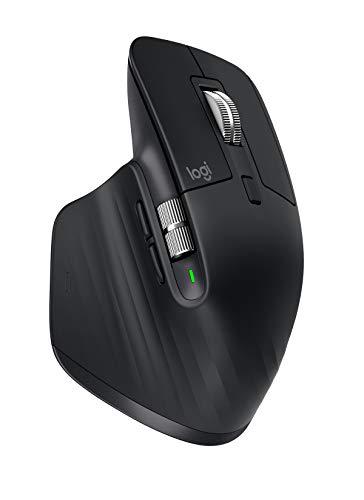 Logitech MX Master 3 Mouse Wireless Avanzato, Business Versione, Ricevitore Bluetooth + USB, Scorrimento rapido, 4000 DPI Qualsiasi Superficie, Ergonomico, 7 Pulsanti, PC/Mac/iPadOS, Nero