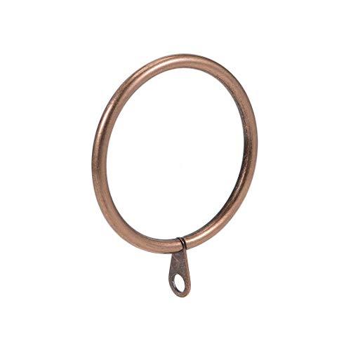 uxcell Gardinenringe, Metall, 45 mm Innendurchmesser, für Gardinenstangen, Kupfer, 28 Stück