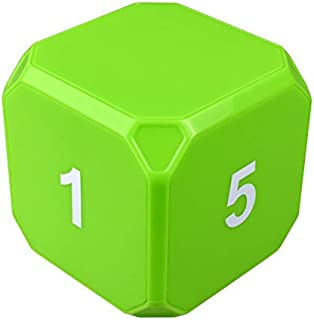TimeCube Plus Preset Timer with 4 LED Light Alarm for Time Management, Available in 8 Colors and Countdown Settings (Green...