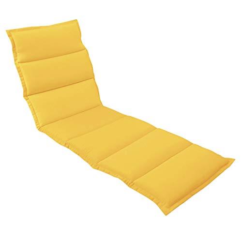 OUTLIV. Polsterauflage für Liegen Liegen-Auflage 190x60 cm Gelb Auflage für Rollliegen, Sonnenliegen und Gartenliegen