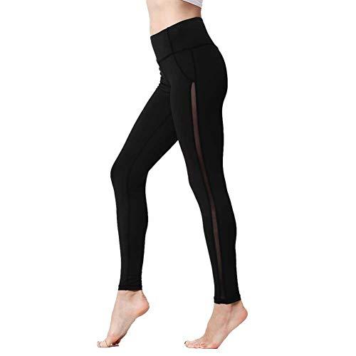 YUJIAKU Frauen Leggings Hohe Taille Push Up Sexy Mesh Trocknen Schnell Elastizität Schlank Sport Gym Strumpfhosen Training Fitness Yoga Laufhose 2018
