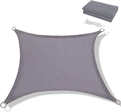 Toldo Vela de Sombra Rectangular Protección Rayos UV, Resistente Impermeable Transpirable para Patio, Exteriores, Jardín, Antracita (Color : Gray, Size : 4x6m)