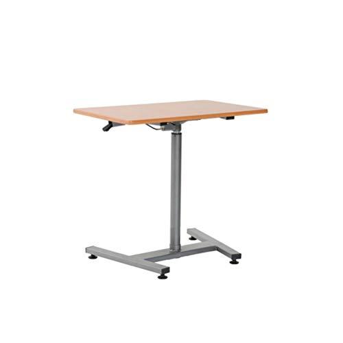 ZXL Mobiel bureau, klein computerbureau, bureau met zwenkwielen voor bed of bank, hoge dichtheid houten paneel + buisvormig staal, verstelbare hoogte (72 ~ 110 cm)
