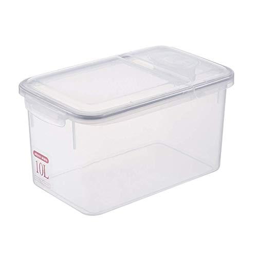 ZXL opslag granen container, met deksel rijst vat 10L13L afdichting vochtbestendig rijstcilinder mest emmer geschikt voor graan en meel (kleur: groot)