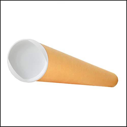 Tube d'emballage carton rond kraft pour posters et grands formats 85cm