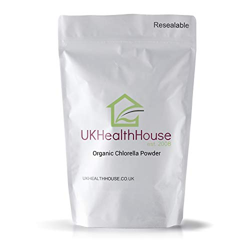 Organic Chlorella Powder, Rich in Vitamins, High Proteins, Green Superfood, Chlorophyll, Minerals, Amino Acids, No preservatives or fillers, Fatty Acids and Fiber (50g)