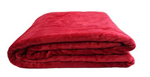Desconocido Manta para Cama y Sofá, Manta Silkelina Extra Suave (Rojo, 160x220)