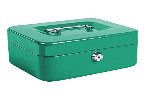 Kippen 10033V4 - Caja de caudales verde, medidas: 300 x 240 x 90 mm