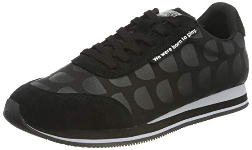 Desigual Damen Shoes_Pegaso_logomania Sneaker, Black, 39 EU
