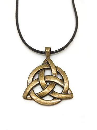Amuleto talismán Triqueta Celta bronce - nudo celta