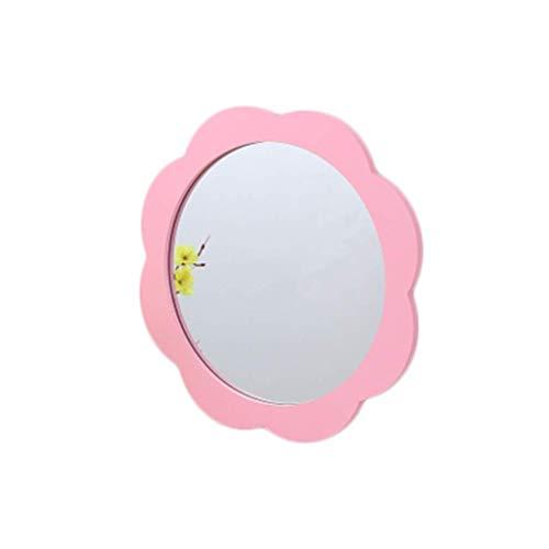 WFY Espejo de Color, la Muchacha de Flores Espejo de baño Espejo de Maquillaje Espejo de Habitaciones Biblioteca Espejo Decorativo de Escritorio Completo de Longitud de jardín de Infancia para niños