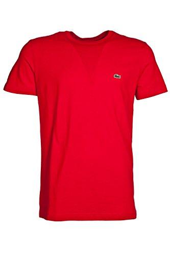 Lacoste Herren T-Shirt Crew Neck, Red 240, Gr. 6 (Herstellergröße: XL)