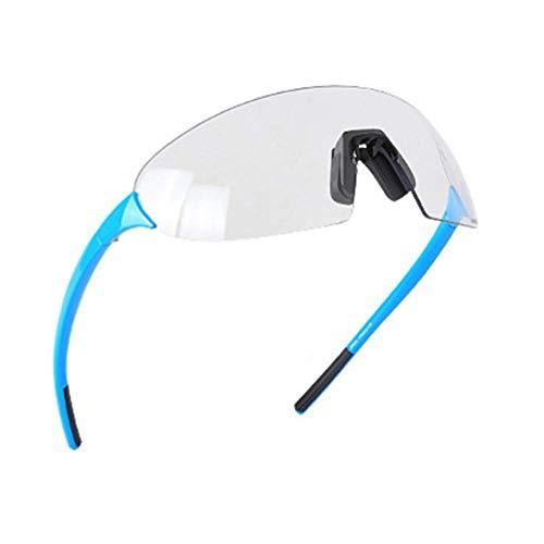 Moda Antideslumbrantes,Ciclismo Sin Montura Gafas De Sol,Correr Ciclismo Vintage Deportivas Pesca Gafas De Sol Deportivas,Degradado Mujer Hombre Gafas-Azul 17cm(7inch)